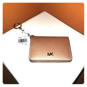 MK Crossgrain Leather Key Rong Card Holder